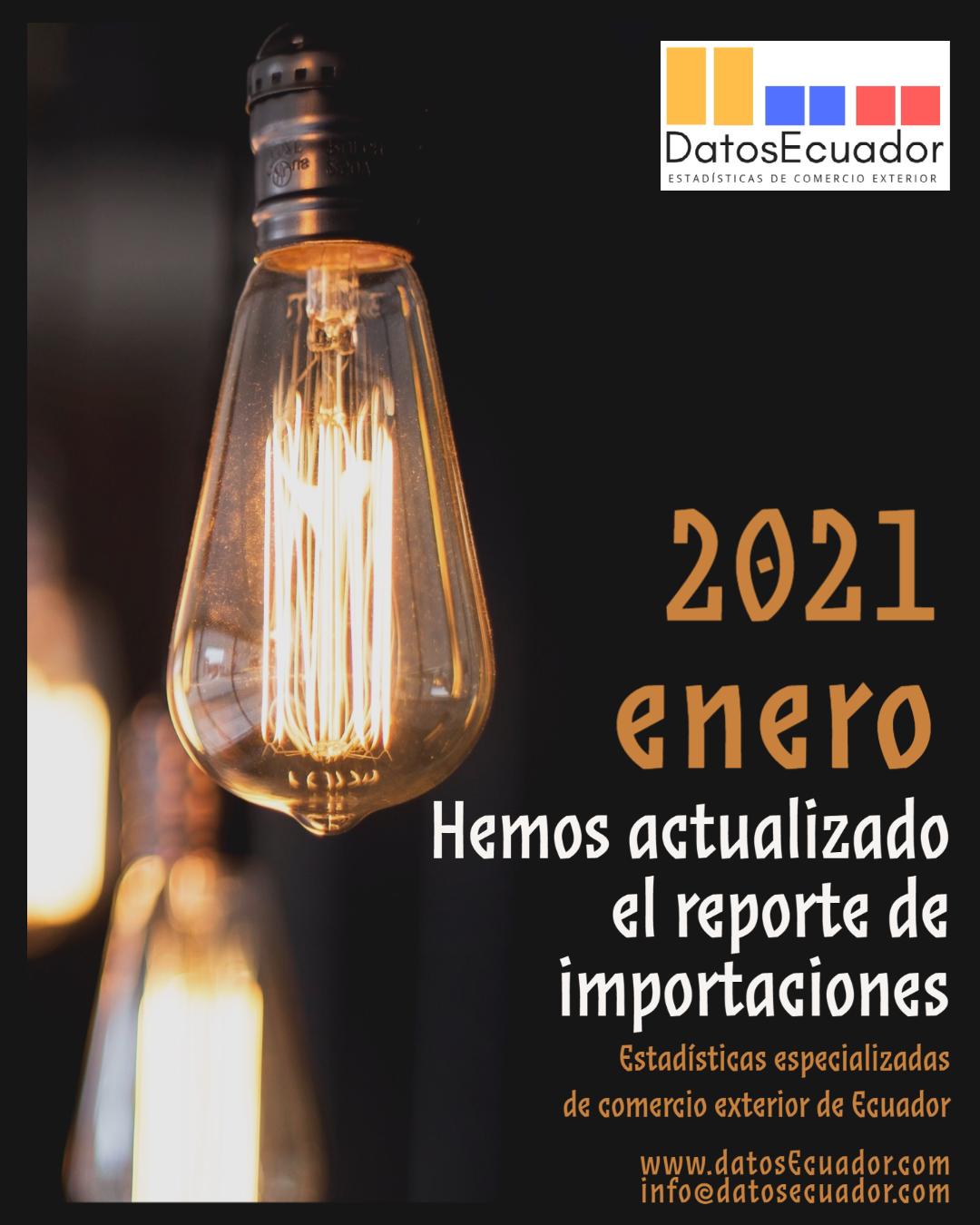 Base de datos y Reportes estadísticos en Excel actualizados a enero 2021